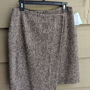 NWT Donna Karan DKNY City Tweed Wrap Skirt -  10P